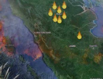 156 Titik Panas di Riau Tidak Satupun di Kuansing