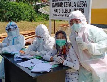 Sebanyak 128 Orang Lagi Dilakukan Pengambilan Swab Massal di Kuantan Mudik Sabtu Tadi
