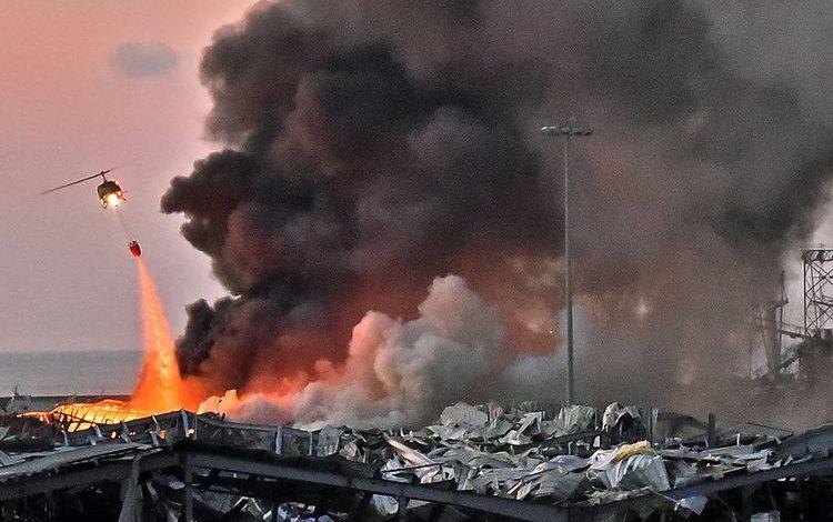 Ledakan Dahsyat dengan Awan Jamur Raksasa Mengguncang Lebanon