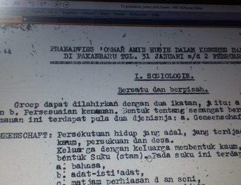 Membaca Jejak Pemikiran dan Tindakan DR. H. Oemar Amin Hoesin Untuk Pendirian Provinsi Riau (Bagian 1)